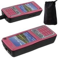 Téléphone portable taser électrique - rose 1.000.000 volts