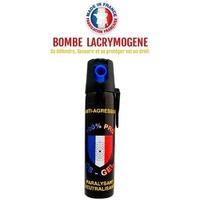 Bombe lacrymogène 75ml GEL CS - aérosol lacrymo