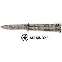Balisong couteau papillon 22cm camouflage - ALBAINOX