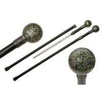 Canne épée 91,5cm de marche - design croix dragon