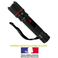 Taser shocker électrique LED - Tazer noir 3 800 000 volts - texturé.