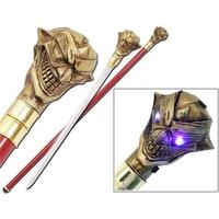 Canne épée 96,5cm Joker de marche - Les yeux s'allument !