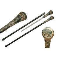 Canne épée 91,5cm de marche - design Loup