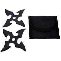 2 Shurikens étoiles acier noir - shuriken
