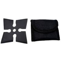 Shuriken étoile ninja de lancer 10,5cm - Acier inox