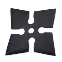 Shuriken étoile ninja de lancer 10,5cm - Acier inox.