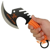 Hachette 29cm Zombie Killer - orange full tang.