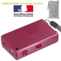 Taser shocker compact 7,5cm rose - Tazer 2 000 000 volts