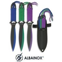 3 Couteaux de lancer 19cm multicolore - ALBAINOX
