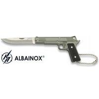 Couteau porte-clé pliant 13cm - Pistolet gun acier