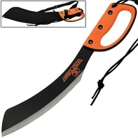Machette épée Zombie Killer 51cm orange - Full tang
