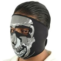 Masque en néoprène, design Squelette - biker, moto, airsoft.