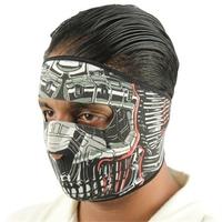 Masque en néoprène airsoft - Design Robot Cyborg.