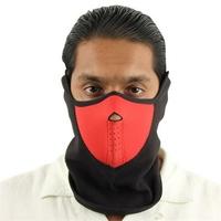 Masque en néoprène airsoft moto - Design rouge et noir.