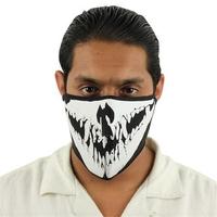 Masque en néoprène, airsoft motard moto - Design Squelette.