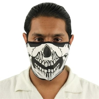Masque en néoprène, airsoft moto - Design Squelette.
