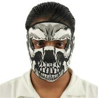 Masque en néoprène airsoft moto - Squelette revolver.