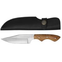 Poignard couteau 20,2cm full tang - Bois de teck