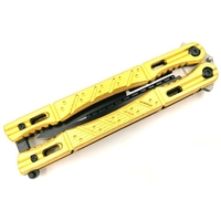 Couteau papillon night fighter - balisong jaune.