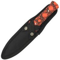 Dague Squelette 24,5cm Zombie - Full tang acier.