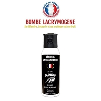 Bombe lacrymogène 100ml GEL CS - aérosol spray lacrymo