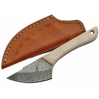 Poignard 15,6cm lame DAMAS - Couteau compact en os