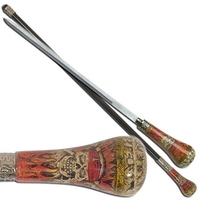Canne épée 93cm de marche - Pirate Squelette.