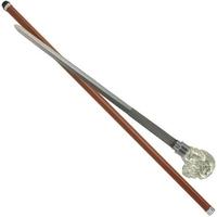 Canne épée 89cm de marche - Design bulldog chien.