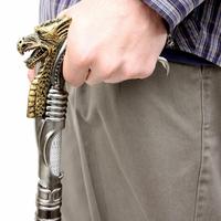 Canne épée 90cm de marche - Design Dragon Cyborg....