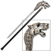 Canne épée 86cm de marche - Pommeau design Lion