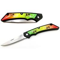 Couteau pliant 16,8cm - Design RASTA beuh cannabis