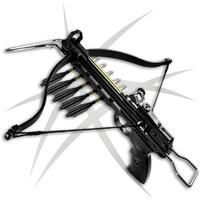Arbalète pistolet 80 livres précision + 3 flèches alu