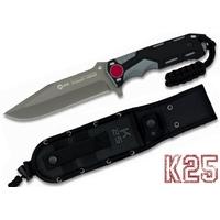 Poignard couteau 26cm full tang titane - K25 de RUI
