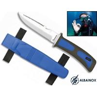 Couteau de plongée sous-marine 23,5cm - bleu ALBAINOX