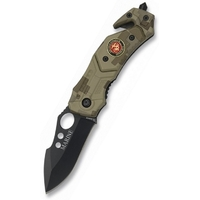 Couteau troupe de marine 15,5cm - camouflage compact..