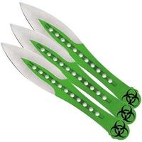 3 Couteaux de lancer 19cm ZOMBIE - Couteau full tang.