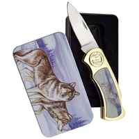 Coffret collector couteau pliant - Collection Loup.