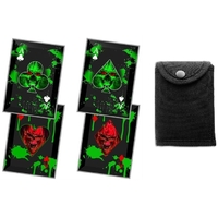 Lot 4 cartes à lancer tranchantes - Carte noire squelette