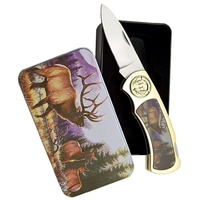 Coffret collector couteau pliant - Collection Cerf biche.