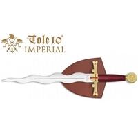 Dague 36cm Les Templiers + socle bois déco - IMPERIAL