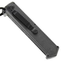 Couteau automatique cran d'arret gris - Ouverture verticale..