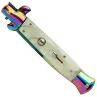 Grand couteau Italien 24cm automatique cran d'arret - Titane.