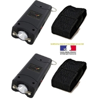 Lot de 2 tasers LED compact pack - Tazers 9 800 000 volts !.