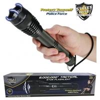 Taser shocker LED tactique - Tazer puissant 8 000 000 volts !