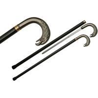 Canne épée 90cm de marche - Pommeau métal design Aigle