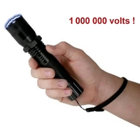 Taser shocker 1 000 000 volts LED + dragonne - tazer noir