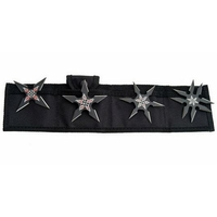 4 étoiles ninja shuriken, lancer jet - noir