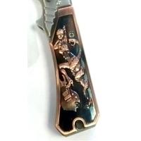 Couteau automatique 22,5cm cran d'arrêt - Déco femme.