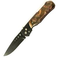 Couteau automatique 22,5cm cran d'arrêt - Déco Serpent cobra.