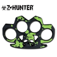 Poing américain Z-HUNTER arme métal - Design Zombie